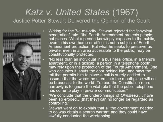 Katz+v.+United+States+(1967)+Justice+Potter+Stewart+Delivered+the+Opinion+of+the+Court